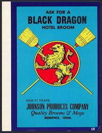 #ZLB043 - Black Dragon Broom Label