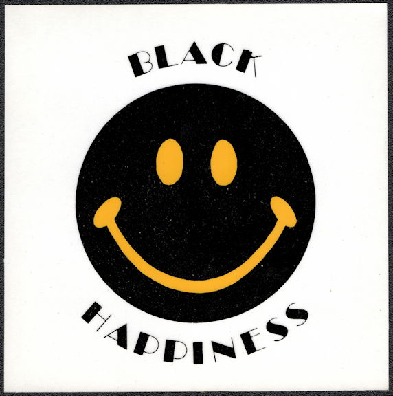#NE035 - Group of 12 Black Happiness Decal/Stickers