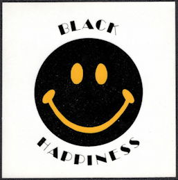 #NE035 - Black Happiness Decal/Sticker