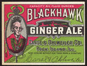 #ZLS156 - Blackhawk Ginger Ale Label 5 1/2 Ounce Size