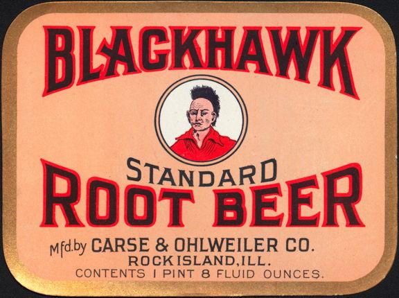 #ZLS046 - Blackhawk Standard Root Beer Label