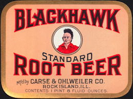 #ZLS046 - Blackhawk Standard Root Beer Label