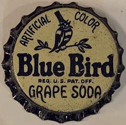 #BC196 - Rare Cork Blue Bird Grape Soda Bottle Cap