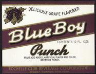 #ZLS172 - Blue Boy Punch Soda Bottle Label - As low as 25¢