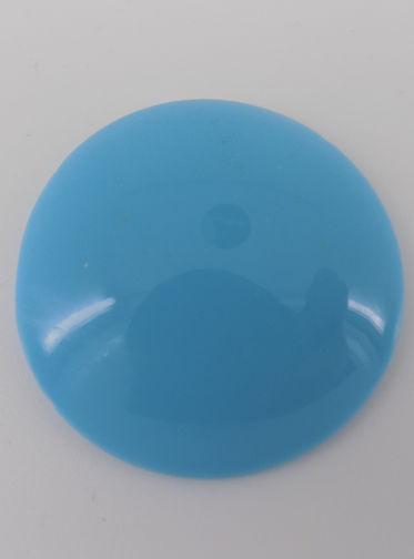 #BEADS0619 - Huge 40mm Diameter Robin Egg Blue Glass Cabochon