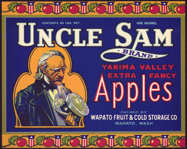 #ZLC295 - Uncle Sam Apple Crate Label - Blue Version