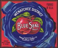 #ZLC286 - Wenatchee Blue Seal Apple Crate Label
