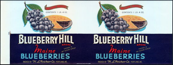 #ZLCA158 - Rare Blueberry Hill Maine Blueberry Can Label