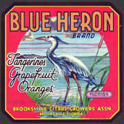 #ZLC265 - Blue Heron Brand Florida Citrus Crate Label