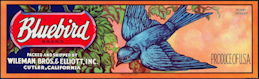 #ZLSG083 - Scarce Bluebird Grape Crate Label