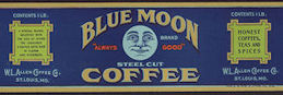 #ZLCA904 - Scarce Blue Moon Coffee Label