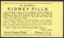 #ZBOT132 - Blumer's Kidney Pill Remedy Label