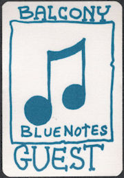 ##MUSICBP0636  - Blue Notes OTTO Cloth Backstage Pass from the Neil Young 1988 This Note's For You Tour
