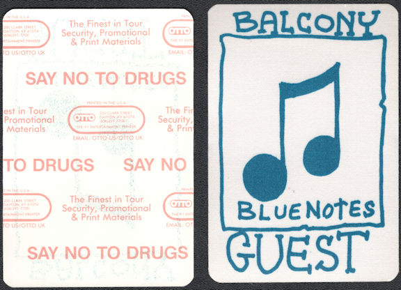 ##MUSICBP0636  - Bluenotes OTTO Cloth Backstage Pass from an early 80s Neil Young Tour