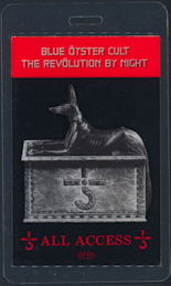 ##MUSICBP0347  - Scarce Blue Oyster Cult 1983  Revolution by Night Tour Laminated Backstage Pass