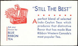 #ZZZ179 - Blue Ribbon Tea Advertising Ink Blotter