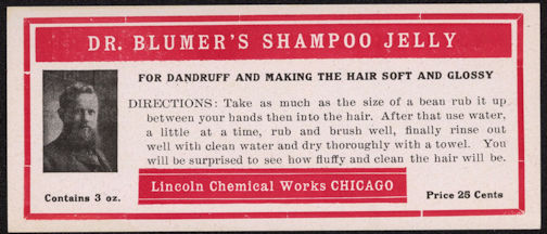 #ZBOT161 - Dr. Blumer's Shampoo Jelly Label