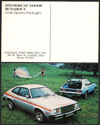 #CA515 - 1979 Mercury Bobcat Advertising Postcard