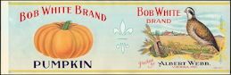 #ZLCA058 - Large Size Bob White Pumpkin Label