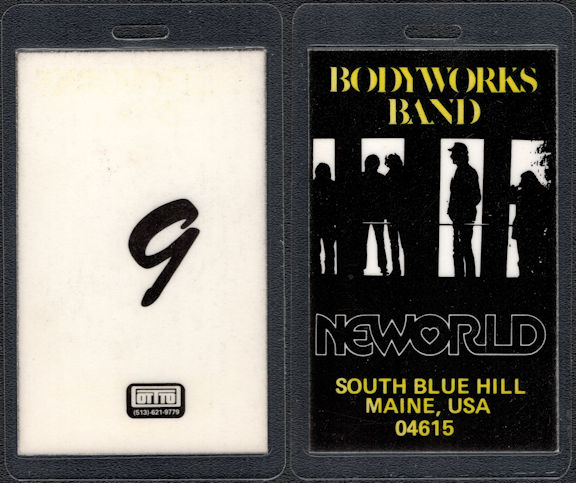 ##MUSICBP0544 - 1980 Bodyworks Band (Paul Stookey of Peter Paul and Mary) Laminated Backstage Pass from The Band and Bodyworks Tour