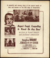 "#CH326-16  - Humphrey Bogart in ""Knock on Any Door"" Movie Poster Broadside"