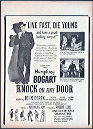 "#CH326-31  - Humphrey Bogart in ""Live Fast, Die Young and Have a Good-Looking Corpse"" Movie Poster Broadside"