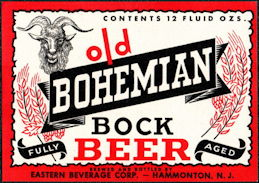 #ZLBE117 - Old Bohemian Bock Beer Bottle Label
