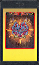 ##MUSICBP0536  - 1993 Bon Jovi Laminated Backstage Pass from the Keep the Faith Tour