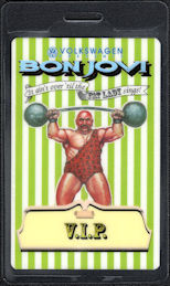 ##MUSICBP0633  - Bon Jovi OTTO Laminated Backstage VIP Pass from the It Ain't Over 'til the Fat Lady Sings Tour