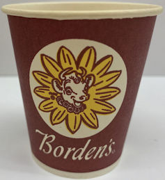 #CH456  - Borden's Sample Size Cup Picturing Elsie