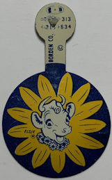 #CH152  - Group of 4 1950s Elsie the Cow Pins