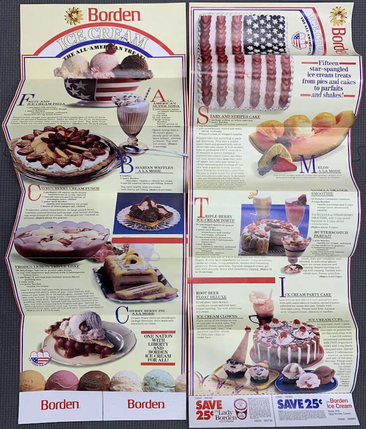 #DA111  - Large Borden Ice Cream Brochure with Elsie