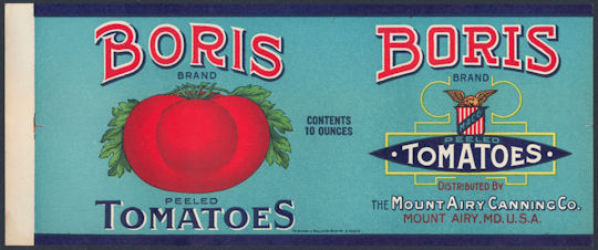 #ZLCA230 - Boris Tomatoes Can Label - As Low as 35¢ each