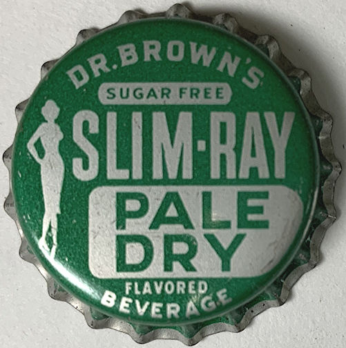 #BC209 - Super Rare Dr. Brown's Slim-Ray Pale Dry Soda Cork Lined Bottle Cap