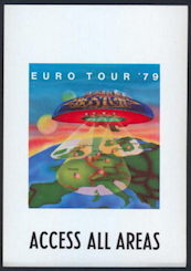 ##MUSICBP0142 - Boston OTTO Backstage Pass from the Euro Tour '79 - Real Piece of History