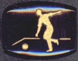 #BEADS0259 - Glass Intaglio Picturing a Bowler