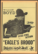 #CH326-19 - William Boyd (first appearance as Hopalong Cassidy - 1935) Eagle's Brood Poster/Broadside