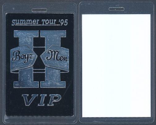 ##MUSICBP0090  - Boyz II Men Tour Summer Tour '95 Laminated Backstage Pass