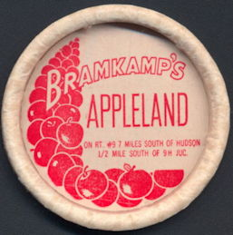 #DC169 - Rare Large Bramkamp's Appleland Cap that Went on a Megaphone Container