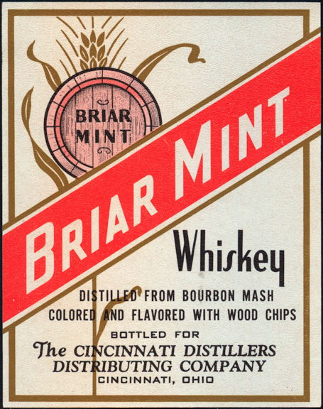#ZLW108 - Briar Mint Bourbon Mash Whiskey Label