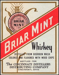 #ZLW108 - Briar Mint Bourbon Mash Whiskey Label