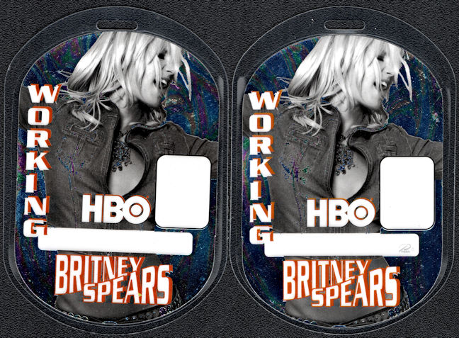 ##MUSICBP0025 - Britney Spears HBO Working Laminated Perri Backstage Pass from the Dream within a Dream Tour