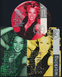 ##MUSICBP0270  - Britney Spears Cloth Backstage Pass from the 2000 Oops I Did it Again Tour