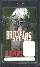 ##MUSICBP0449 - Britney Spears Family and Friends Laminated Perri Backstage Support Pass from the Dream within a Dream Tour