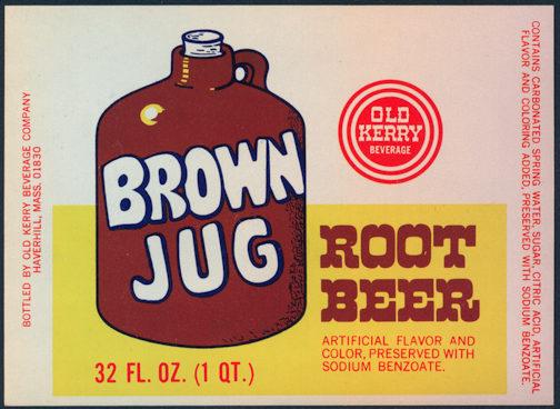 #ZLS192 - Brown Jug Root Beer Bottle Label - As Low as 25¢ each