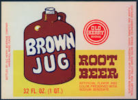 #ZLS192 - Brown Jug Root Beer Bottle Label - As Low as 25¢ each
