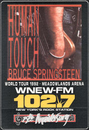 ##MUSICBP0671 - Bruce Springsteen OTTO Cloth Radio Pass from the 1992 concert at Meadlowlands Arena - Human Touch World Tour