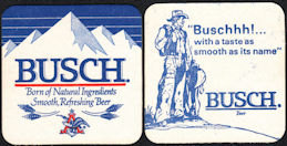 #SP060 - Busch Beer Coaster with Cowboy with Saddle and Rope