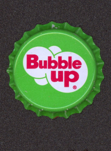 #BC105- Group of 10 Bubble Up Plastic Lined Soda Caps