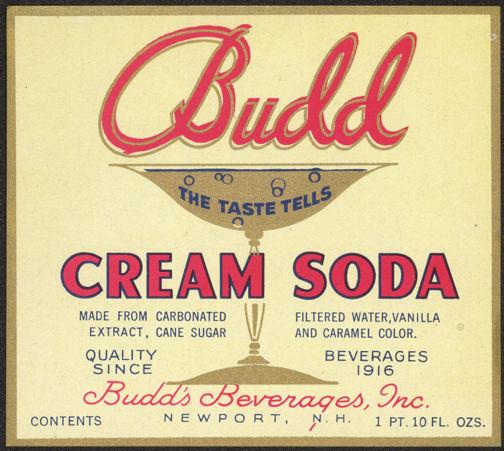 #ZLS150 - Budd Cream Soda Label